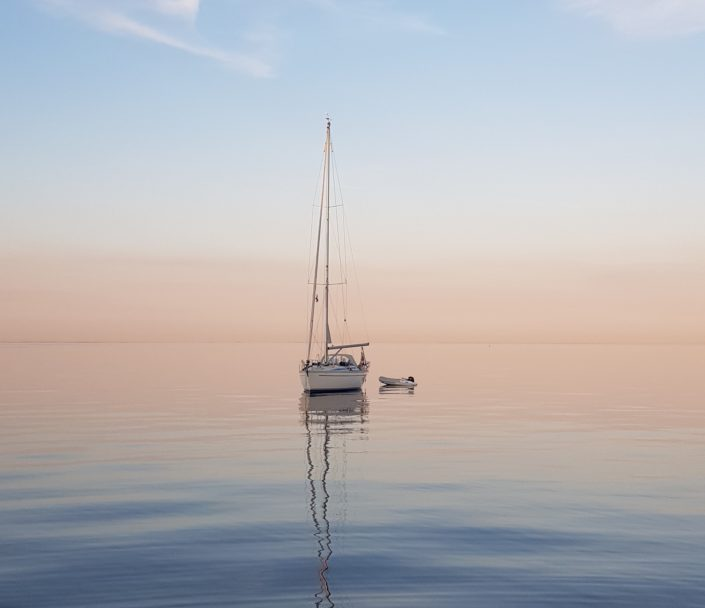 Segelboot Meer Sonnenuntergang